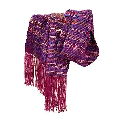 Purple Tencel & Silk Sakiori Scarf