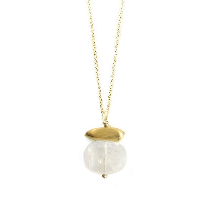 Pebble Moonstone Pendant Necklace by Philippa Roberts