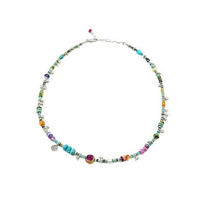53 and Me Turquoise Necklace by Riverstone #8.8