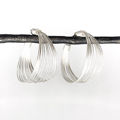 Multi-Wire Large Hoop Earrings