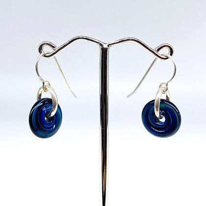 Petite Essential Earrings   Dark Blue