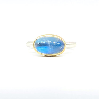 Rainbow Moonstone Ring by Heather Guidero
