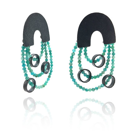 Amazonite Arch Earrings by Heather Guidero