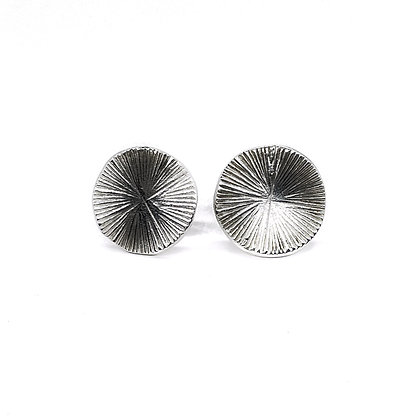 Small Feathered Disc Post Earrings