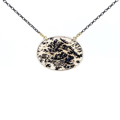 Dendritic Agate Necklace - 18""
