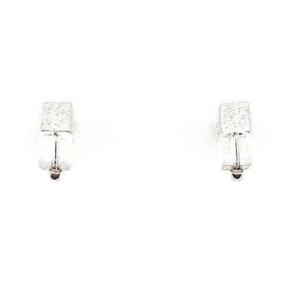 Crystal Quartz Cube Earrings