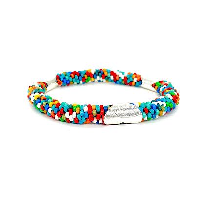 Colorful Beads Bracelet by Claudia Fajardo
