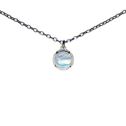 Rainbow Moonstone Pendant Necklace by Heather Guidero