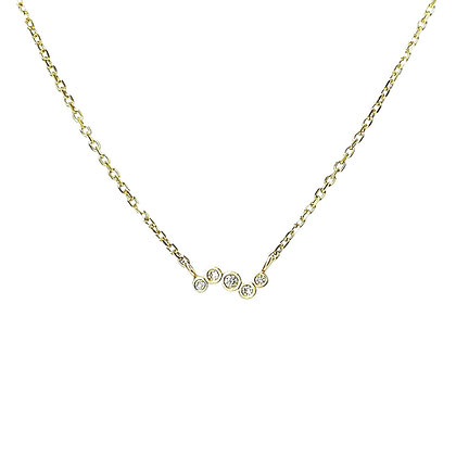 Diamond Gold Necklace by Hitomi Jacobs