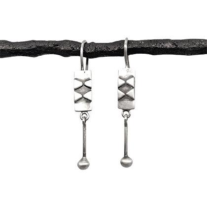 Fishtail Earrings by Jane Diaz