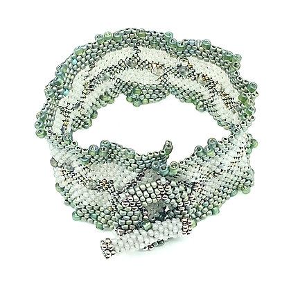 Herbal Lettuce Edge Cuff Bracelet