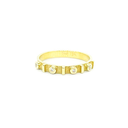 Stackable Yellow Gold Ring by Heather Guidero