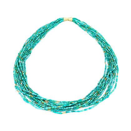 Turquoise Gold Necklace by Hitomi Jacobs