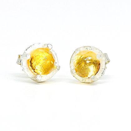 Citrine Stud Earrings | 6mm