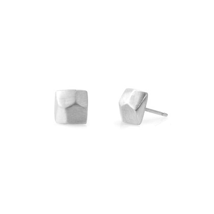 Faceted Square Post Earrings