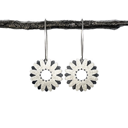 Double Daisy Earrings by Tip-To-Toe