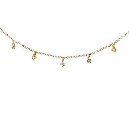 Scribble Diamond Bezel Charm Necklace by Dana David