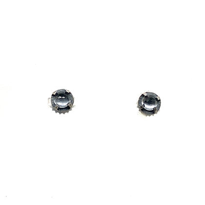 4mm White Topaz Stud Earrings by Heather Guidero