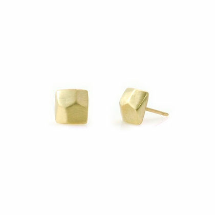 Faceted Square Post Earrings by Philippa Roberts