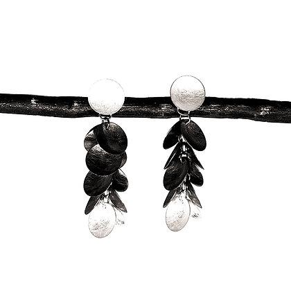 Med Grape Dangle 2-Color Earrings