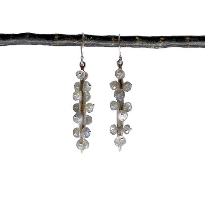 Icicle Rod with Labradorite Earrings
