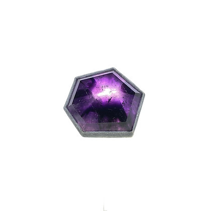 GeometricAmethyst Ring by Heather Guidero
