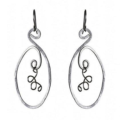 Calder Silver Earrings by Tessoro