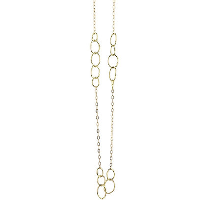 Triple Babble Gold Necklace