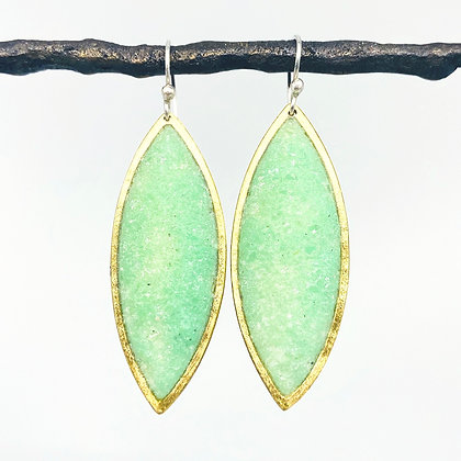 Medium Spear Earrings - Bronze