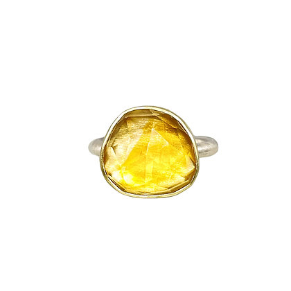 Rose Cut Citrine Ring by Heather Guidero