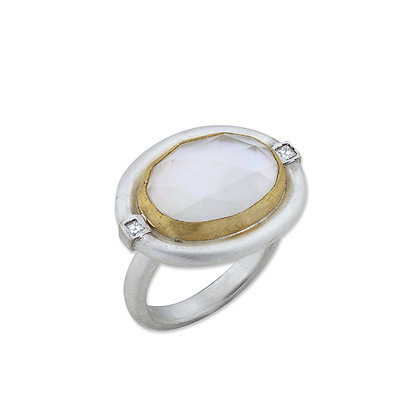 Mother of Pearl Oval Deck Ring by Lika Behar Collection