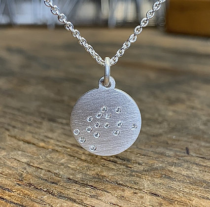 AQUARIUS (January 21 - February 19) Diamond Constellation Necklace