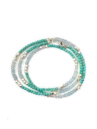 Turquoise &AquamarineSilver Necklaceby Philippa Roberts