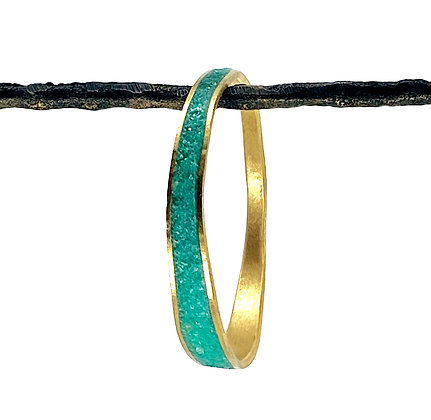 Medium Thin Wave Bangle