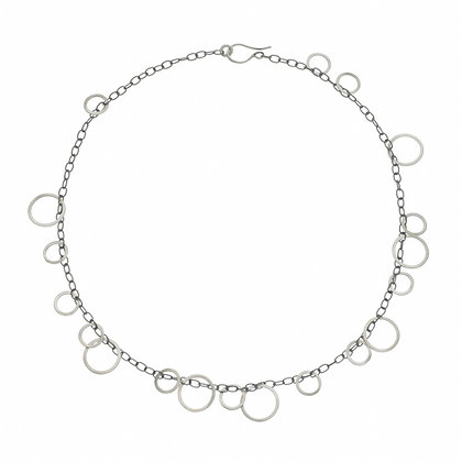"""Circle Bunches Long Necklace - 30"""""""