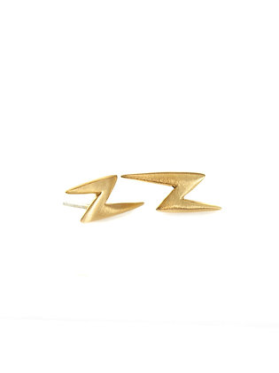 Lightning Bolt Post Earrings by Philippa Roberts
