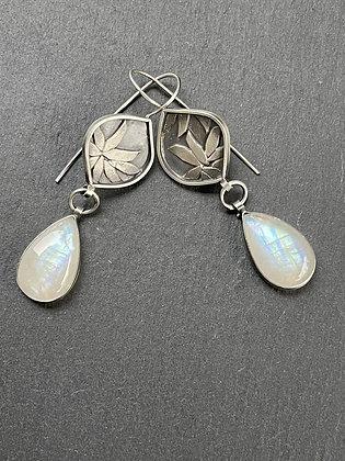 Moonlight Garden Earrings by Heather Munion