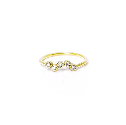 Five Diamond Ring by Hitomi Jacobs