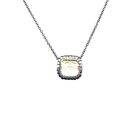 Hematite Quartz Pendant Necklace