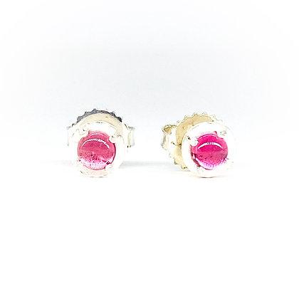 Pink Tourmaline Stud Earrings | 4mm