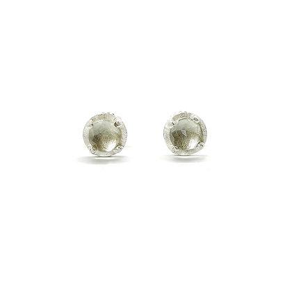 6mm Green Amethyst Stud Earrings by Heather Guidero
