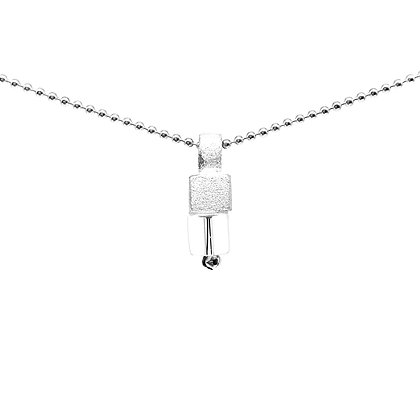 Crystal Small Pendant Necklace by Tip-To-Toe