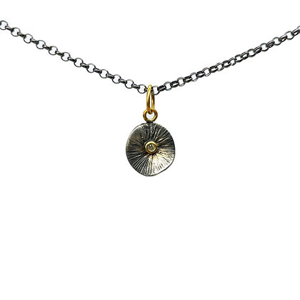 Diamond Pendant Necklace by Prehistoric Works
