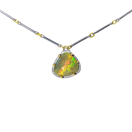 Ethiopian Opal Pendant Necklace by Heather Guidero
