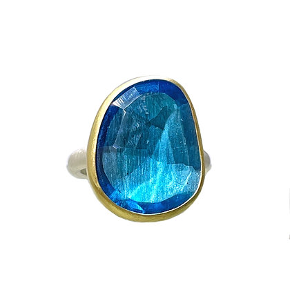 Swiss Blue Topaz Ring by Heather Guidero
