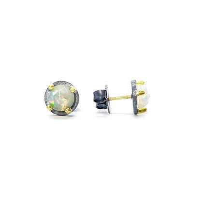 6mm Ethiopian Opal Stud Earrings by Heather Guidero