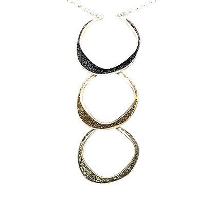 Triple Crescent Moons Necklace