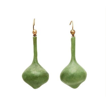 Ming Sea Green Clay Earrings by Julie Cohn