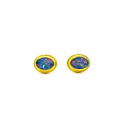 Opal Gold Stud Earrings by ARA