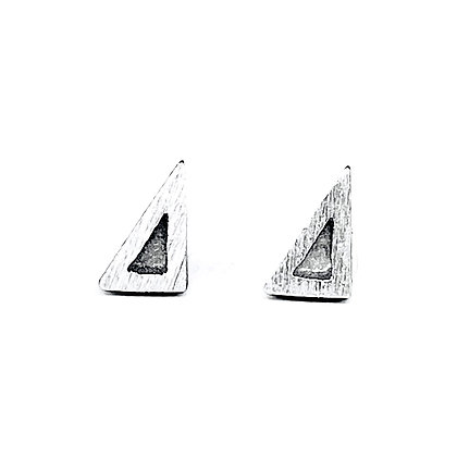 Eclipse Sloped Triangle Post Earrings